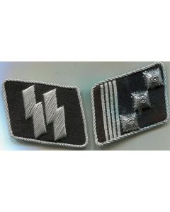 GERMAN SS HAUPSTURMFUHRER CAPTAIN COLLAR TABS