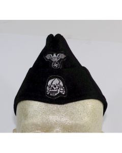 GERMAN SS PANZER EM OVERSEAS CAP BLACK