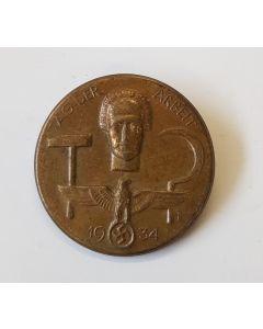 GERMAN TAG DER ARBEIT 1934 TINNIE