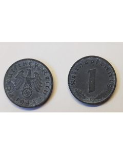 GERMAN THIRD REICH COIN - 1 REICHSFENNING