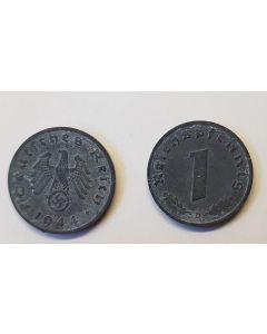 GERMAN THIRD REICH COIN - 1 REICHSFENNING