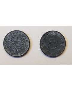 GERMAN THIRD REICH COIN - 5 REICHSFENNING