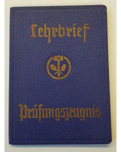 GERMAN THIRD REICH TEACHERS CERTIFICATE (lehrbrief Prüfungszeugnis)