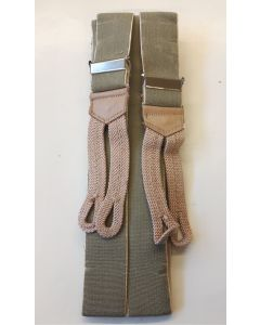 GERMAN UNIFORM PANT SUSPENDERS WITH BRAIDED CORD ENDS