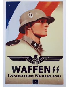 GERMAN WAFFEN-SS LANDSTORM NEDERLAND METAL SIGN