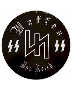 """GERMAN WAFFEN DAS REICH METAL SIGN 14"""" X 14"""""""