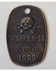 GERMAN WAFFEN SS BERLIN 1939 IDENTIFICATION TAG