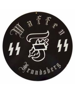 GERMAN WAFFEN SS FRUNDSBERGMETAL SIGN