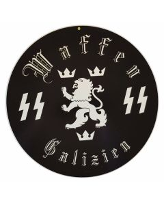 GERMAN WAFFEN SS GALZIEN METAL SIGN