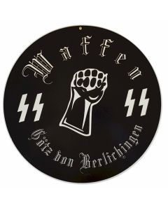 GERMAN WAFFEN SS GOTZ 14 METAL SIGN