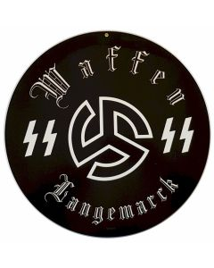 GERMAN WAFFEN SS LANGEMARCK METAL SIGN