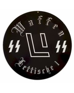 GERMAN WAFFEN SS LITTISCHE 1 METAL SIGN
