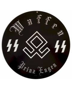 GERMAN WAFFEN SS PRINZ ENGEN METAL SIGN