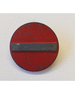 GERMAN WHW DONATION ROAD SIGN PIN - NO ENTRY LIGHT METAL