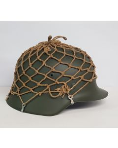 GERMAN WW11 HELMET NET WITH HOOKS