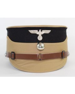 GERMAN WW11 SA STORMTROOPER KEPI TAN WITH BLACK