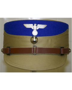 GERMAN WW11 SA STORMTROOPER KEPI TAN WITH BLUE