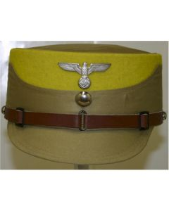 GERMAN WW11 SA STORMTROOPER KEPI TAN WITH YELLOW