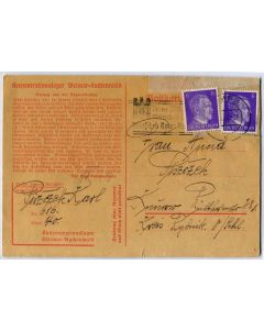 GERMAN WW2 1941 CONCENTRATION CAMP BUCHENWALD LETTER