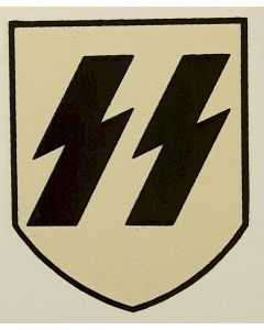 GERMAN WW2 HELMET DECAL SS EARLY FIRST PATTERN