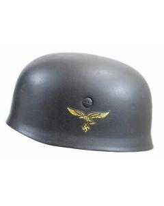 GERMAN WW2 M38 PARA STEEL HELMET AND LINER - FALLSCHIRMAJER