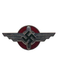 GERMAN WW2 NSFK/DLV GLIDER KORPS OFFICERS VISOR CAP BADGE INSIGNIA