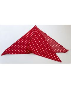 GERMAN WW2 RED POLKA DOT FALLSHIMJAGER SCARF HALSTUCH