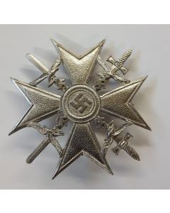 GERMAN WW2 SILVER SPANISH CROSS WITH SWORD