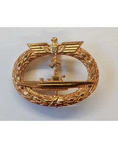GERMAN WW2 SUBMARINE WARFARE BADGE U-BOAT