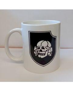 GERMAN WWII 3rd SS PANZER DIVISION TOTENKOPF COFFEE MUG