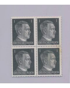 GERMAN WWII HITLER HEAD STAMP OF 4 STAMPS 1 RPF VALUE