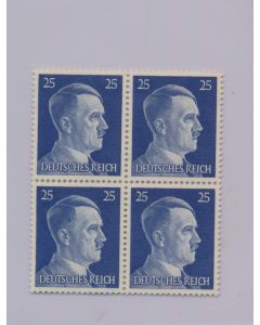 GERMAN WWII HITLER HEAD STAMP OF 4 STAMPS 25 RPF VALUE