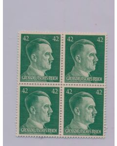 GERMAN WWII HITLER HEAD STAMP OF 4 STAMPS 42 RPF VALUE