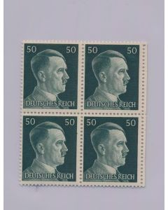 GERMAN WWII HITLER HEAD STAMP OF 4 STAMPS 50 RPF VALUE