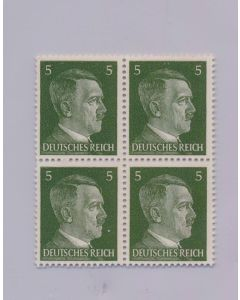 GERMAN WWII HITLER HEAD STAMP OF 4 STAMPS 5 RPF VALUE