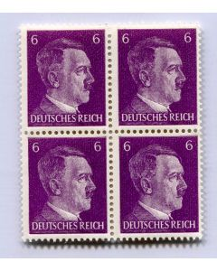 GERMAN WWII HITLER HEAD STAMP OF 4 STAMPS 6 RPF VALUE