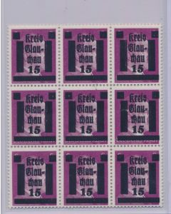 GERMAN WWII HITLER KREIS STAMPS 15 RPF VALUE