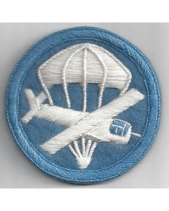 AIRBORNE COMBINED GLIDER PARACHUTE OFFICERS CAP PATCH