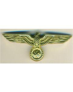 WWII GERMAN GENERAL ARMY VISOR CAP EAGLE GOLD