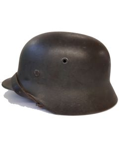 ORIGINAL WW2 M35 GERMAN HELMET NORWEGIAN ARMY DOUBLE DECAL POST WAR NORWAY