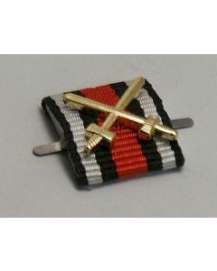 GERMAN HINDENBURG HONOR CROSS WITH SWORDS CUSTOM RIBBON BAR