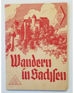 "HITLER YOUTH WANDERN IN SACHEN"" YOUTH HOSTEL GUIDE ""1935"""