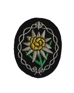 GERMAN  GEBIRGSJAGER EDELWEISS OFFICERS SLEEVE PATCH