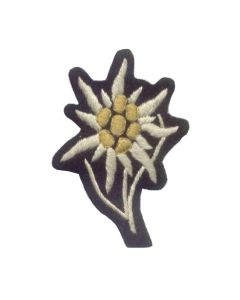 GERMAN WAFFEN SS CLOTH VERSION EDELWEISS (MOUNTAIN TROOP) CAP INSIGNIA