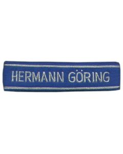 GERMAN HERMANN GORING BULLION OFFICERS CUFF TITLE