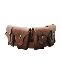 CANADIAN P1903 LEATHER FIVE POCKET BANDOLIER