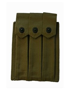 U.S. WWII USMC 1944 DATED THOMPSON .45 SUBMACHINE GUN MAGAZINE POUCH BY RUSSEL MFG. CO.