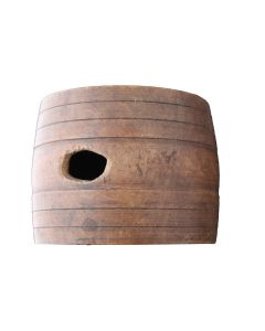ORIGINAL U.S. AMERICAN REVOLUTIONARY WAR WOOD RUM CANTEEN - 1700's