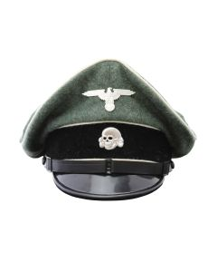 GERMAN WWII WAFFEN SS ENLISTED MAN INFANTRY VISOR CAP