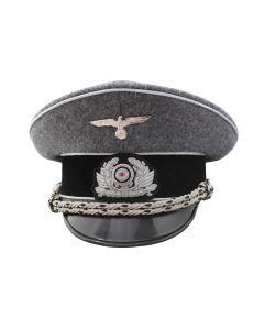GERMAN RAILWAY POLICE LEADER VISOR CAP SCHIRMMUTZE